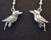 Sterling Silver Kookaburra on Heavy Sterling Silver French Wires
