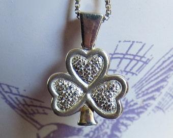 Irish-Made Sterling Silver Shamrock Necklace Pendant