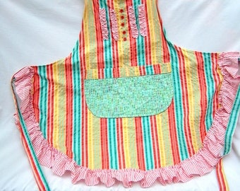 Handmade Colorful Apron/Mother's Day Gift