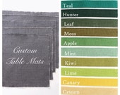 Modern Burlap Placemats - Modern Rustic Living - Indoor/Outdoor Dining & Entertainment