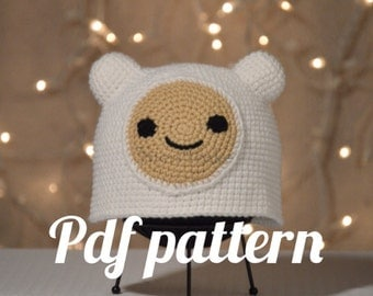 Finn the Human Hat Crochet Pattern