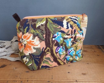 French vintage needlework tapestry for this handmade bag