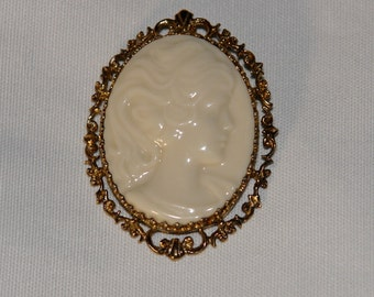 Lenox Sterling Silver Cameo Pendant Brooch Combo