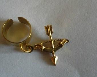 Bow and Arrow  Ear Cuff/ Hair Jewelry