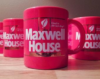 Vintage Maxwell House Instant Coffee Mug