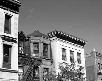 Black and White Photo, Boston Wall Art, Architecture Photo, Copula