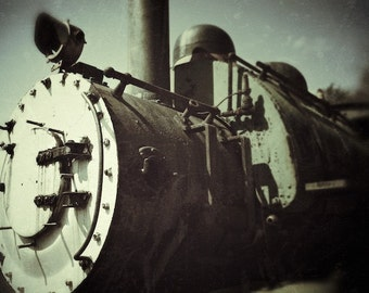 Vintage Train Print, Old Steam Engine Train Wall Decor Digital Photography