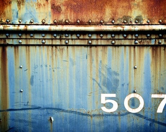 Train Photography, Train Print Rustic Decor Old Train Car 507