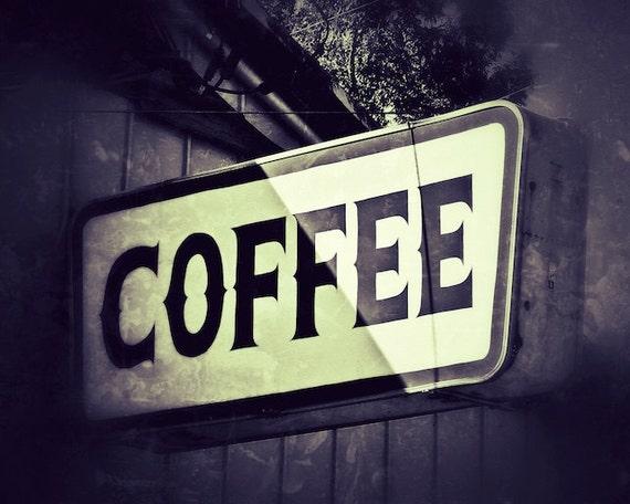 Vintage Coffee Sign, Breakfast Room Photo Wall Decor, Kitchen Wall Art, Kitchen Wall Decor, Coffee Love