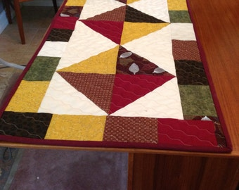 quilted fall table runner, Autumn table runner