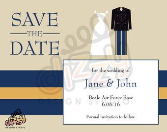 Army Wedding Save the Date - PRINTABLE DIY