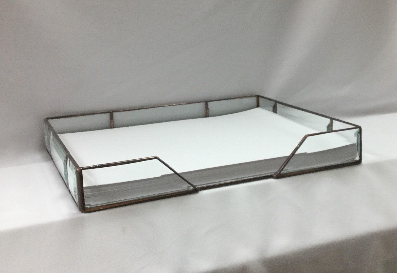 11 x 9 desk top paper holder glass file holder desktop. Black Bedroom Furniture Sets. Home Design Ideas