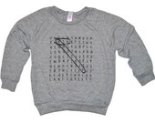Big Brother Kids Shirt - Word Search - Light Long Sleeve Big Bro Top - Boy Clothing For Baby and Toddler - Pregnancy or Birth Announcement