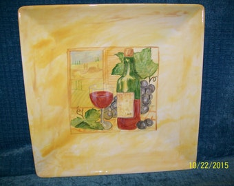 Square Coupe Charger Platter