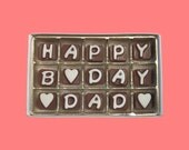 Funny Gift for Dad Gift Father in Law Gift Daddy Birthday Gift New Dad Single Happy B Day Dad Cubic Chocolate Letters Unique Fun Funny Cool