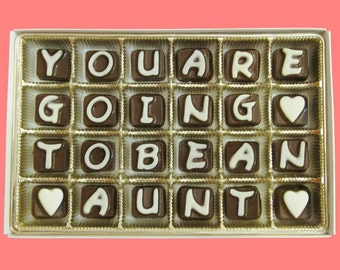 Pregnancy Announcement Pregnancy Reveal to Family Aunt to Be Funny Pregnancy Announcement Card You Are Going To Be An Aunt Cubic Chocolate