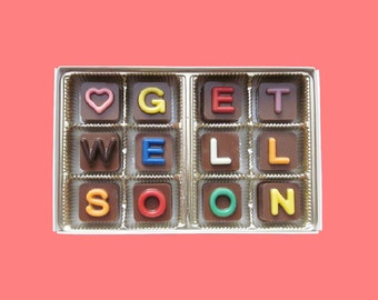 Get Well Gift Speedy Recovery Gift Feel Better for Kid Get Well Soon Jelly Bean Chocolate Cube Sympathy Gift for Him Her Man Woman Kid Gift