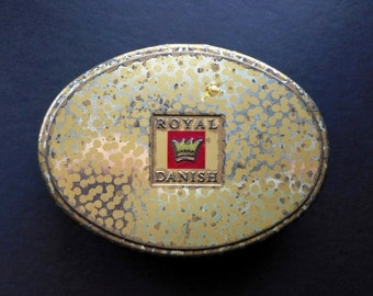 SALE Vintage Tobacco Tin Box Metal Case Royal Danish Pipe Smoking Collectibles