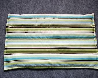 Microwave Heating Pad, Lumbar Corn Bags, Corn Heating Pad, Microwave Heat Pack, Corn Heated Bag -- Lumbar 10x16 -- Simple Stripes for Men