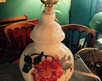 Vintage Ginger Jar Lamp. Small Ginger Jar Lamp. Flowers