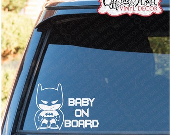"Little Batman ""Baby, Kids, Kid on Board"" Buyers Choice Vehicle Vinyl Sticker"