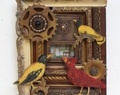 The Green Room - Original Art with Birds