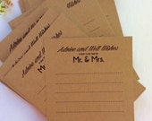 Starts at 50  Wedding Advice Cards for Bride and Groom Mr and Mrs