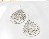 20 off. Art Nouveau Drop Earrings. Tear Drop Dangle Earrings. 18k Gold Plated or Sterling Silver Plated Teardrops.
