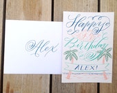 Custom Happy Birthday Card for Desiree