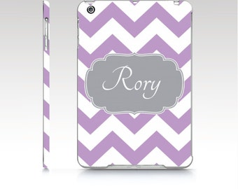 Personalized iPad Case - iPad mini case, iPad Air hard shell cover - Monogram iPad Cover
