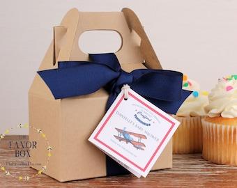 12 - Airplane Baby Shower Favors - Mini Gable Boxes - baby shower favors, baby shower box, boy shower favors, Mini gable favor boxes