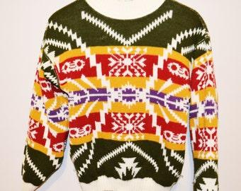 Vintage Sweater Aztec / Native Hipster Pattern