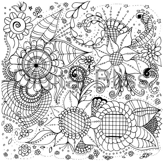 whimsical flowers coloring pages - photo#2