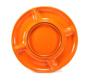 MOD Vintage Lazy Susan  - Mid Century Groovy Orange Lazy Susan Serving Tray