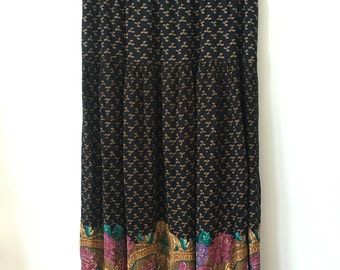 vintage bohemian maxi skirt