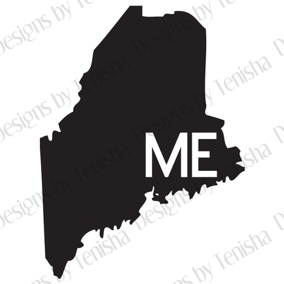 Maine Car Decal State Decal Maine Decal Laptop Sticker - Custom vinyl decals maine