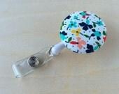 Retractable Badge Reel Holder - Ditzy Floral
