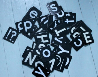 Spell it Out.. Vintage Letters, Black and White, Upper Case and Lower Case