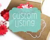 Custom Label Listing for Corey
