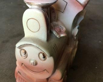 Vintage train vase