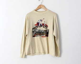 SALE vintage motorcross t-shirt,  1980s Malcolm Smith Products tee