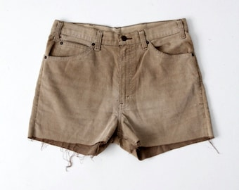 vintage Levi's corduroy shorts, cord cut offs, waist 34