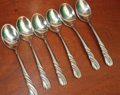 Vintage silverware  from National Stainless in FRENCH TWIST pattern stainless Flatware BiN 36