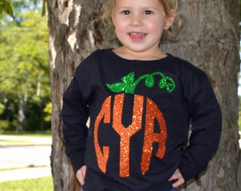Personalized Pumpkin Long Sleeve Toddler Tee