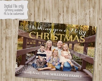 Christmas Photo Card, Holiday Photo Card, Holiday Card, Christmas Card, Glitter Christmas Card, Glitter, Christmas Photo, Holiday Photo