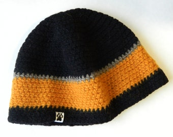 Large Mens Wool Beanie UPCYCLED