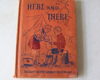 Vintage Early Reader Hear and There The Road To Safety 1938 Homeschool Children's School Book