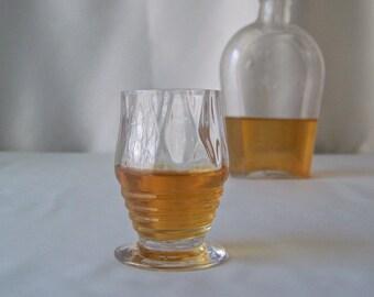 Vintage Shot Glass Barware Mid Century Modern Mad Men 1960s