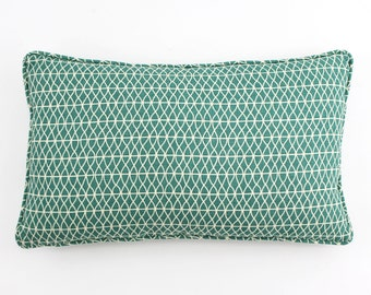 Larry Laslo Las Olas for Robert Allen Custom Self Welted Pillows -comes in Aquatic, Domino and Terra
