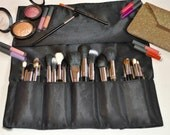 Makeup Brush Roll Holder - Extra Large Slot Sizes with a Velcro Closure Perfect 4 Makeup Artist or Makeup Junkies